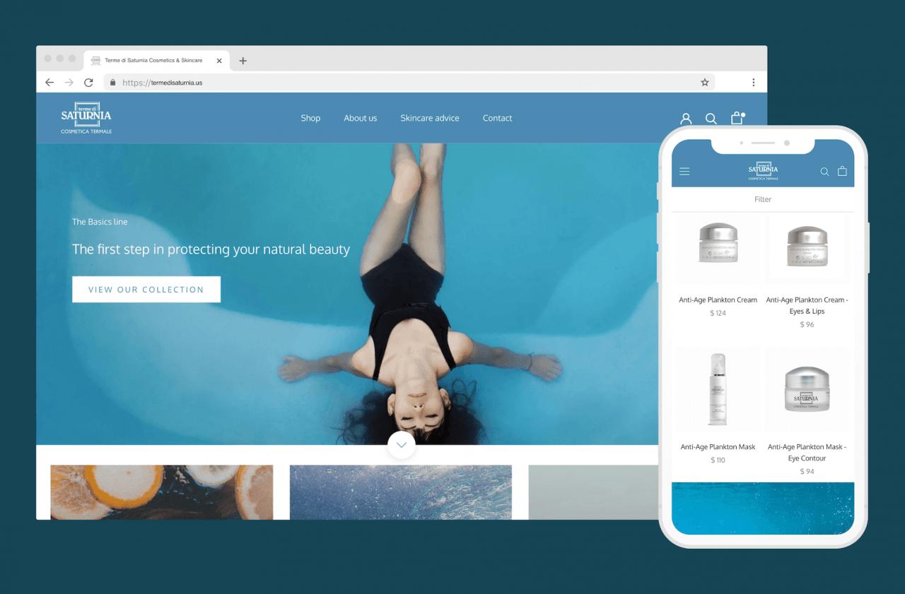 Création boutique en ligne Shopify pour marque de cosmétiques