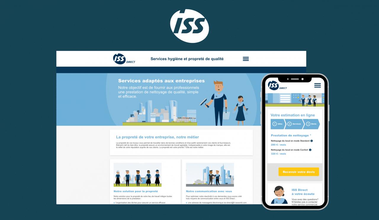 Exemple de site web avec générateur de devis