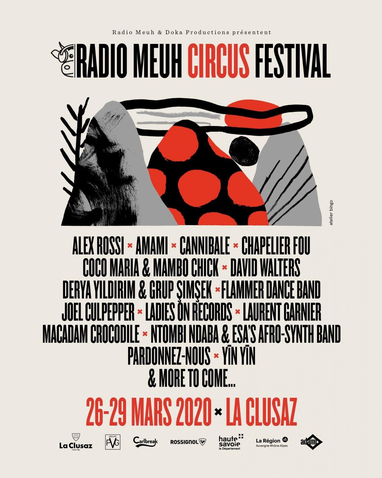 Affiche du Radio Meuh Circus Festival 2020