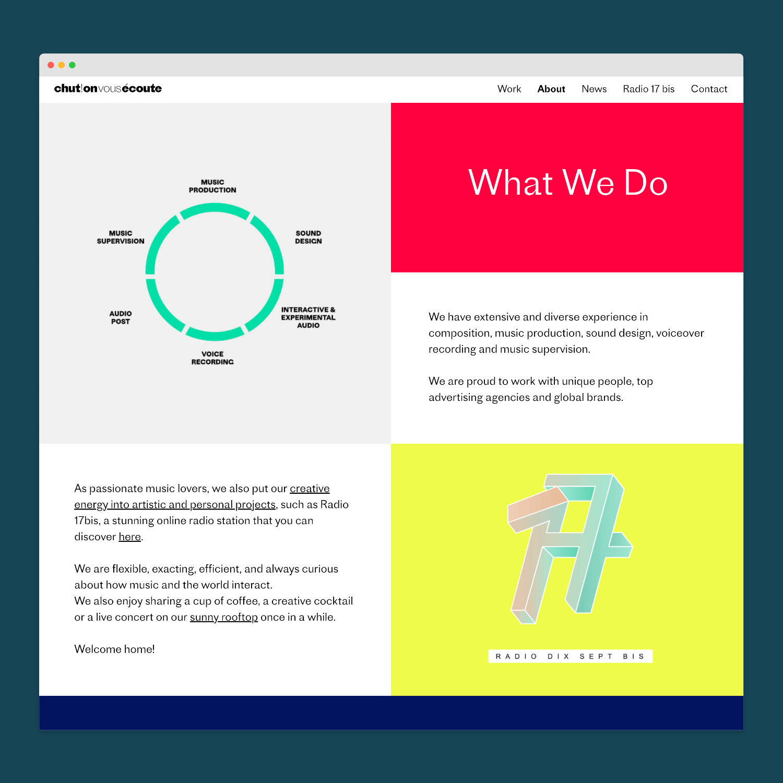 Création d'un site web pour Chut on vous écoute
