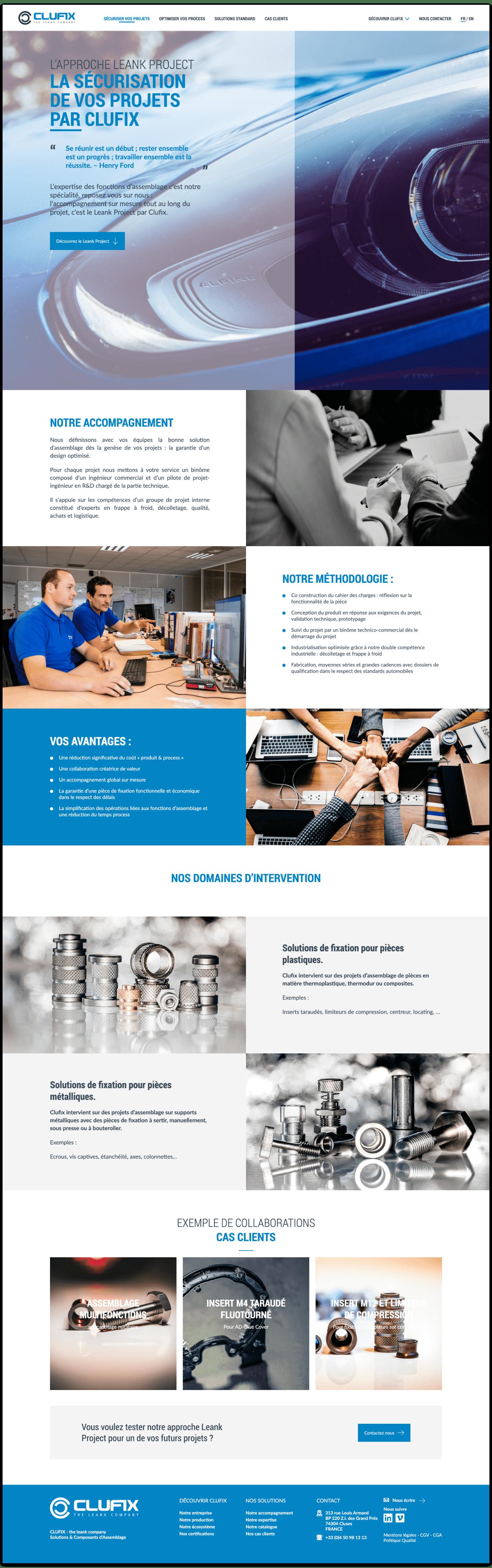Web design - accompagnement Clufix