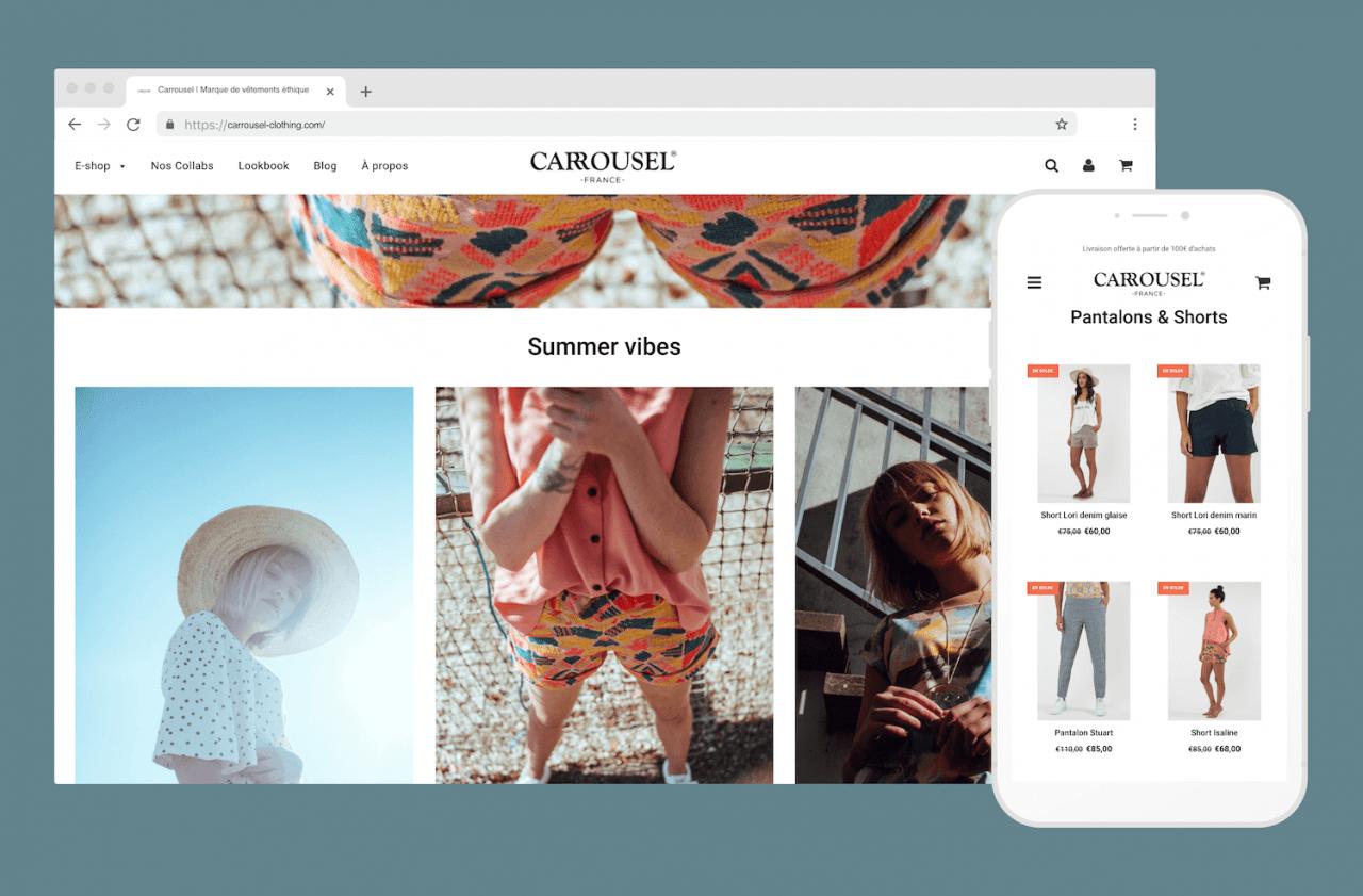 Création de la nouvelle boutique en ligne Carrousel