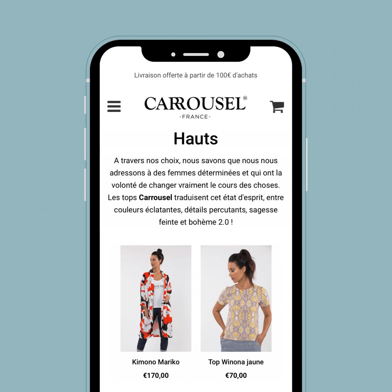 Création boutique en ligne Shopify - marque prêt-à-porter