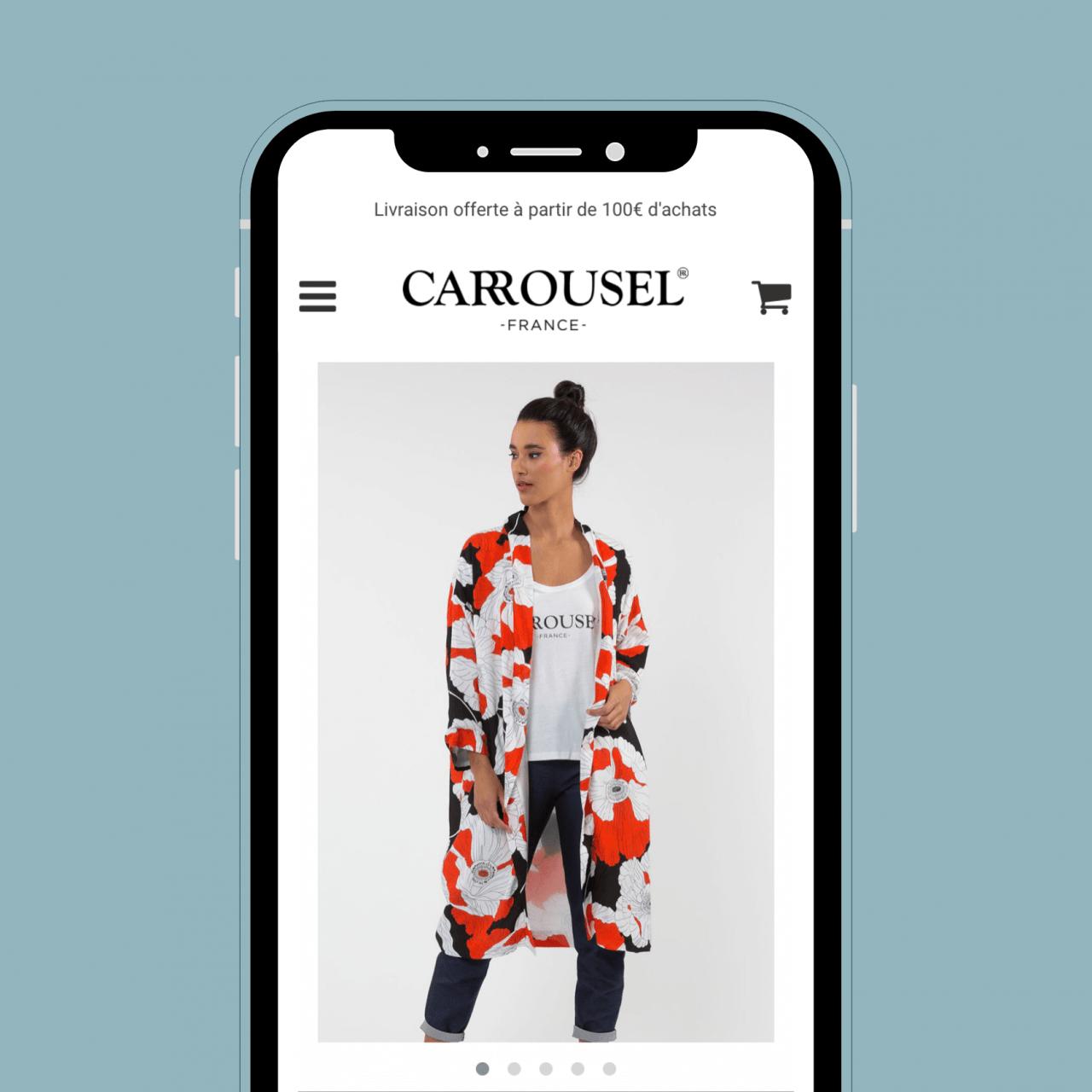 Boutique en ligne marque de vêtements - Tunnel d'achat