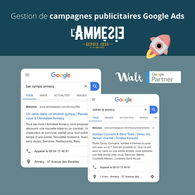 Gestion de campagnes Google Ads ciblées