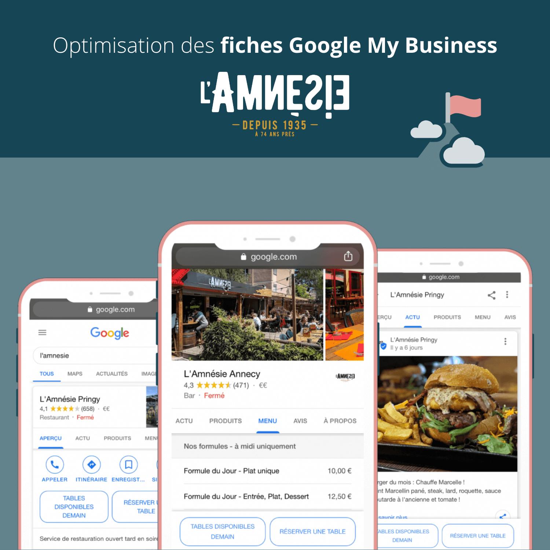 Optimisation des Fiches établissements Google My Business