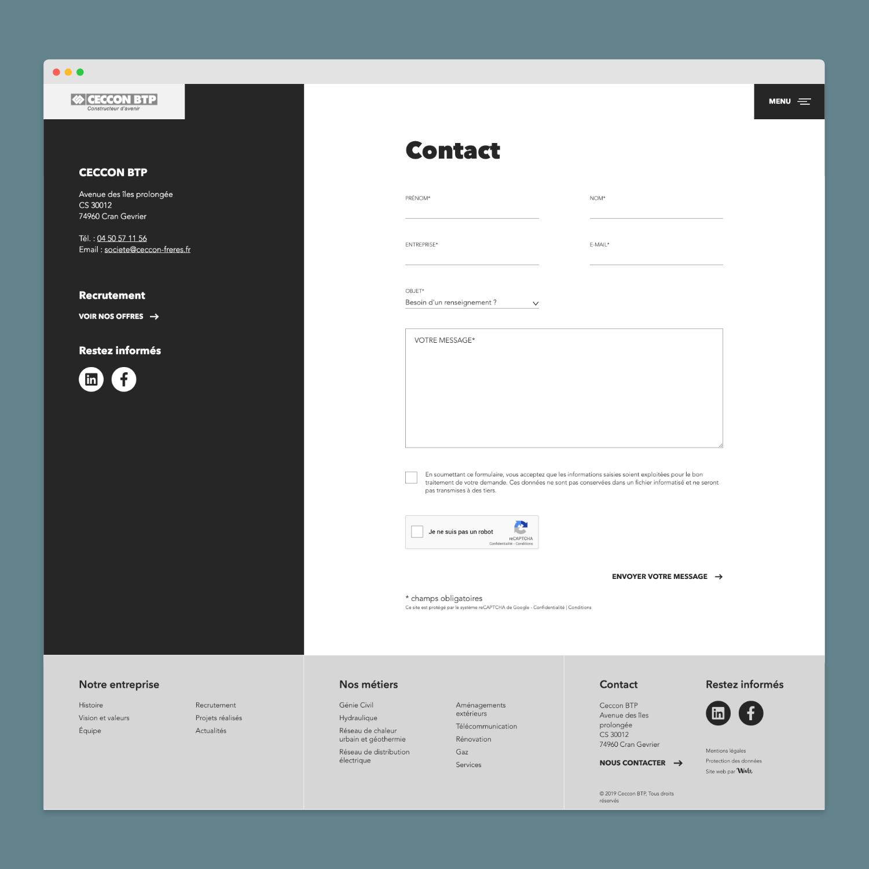 Site Internet - Ceccon BTP