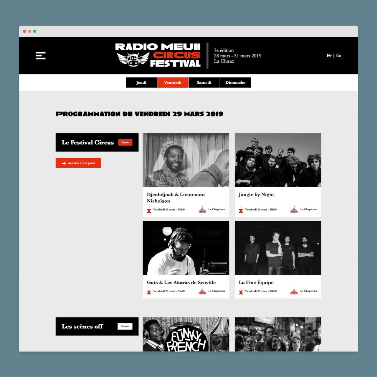 Site web - Radio Meuh Circus