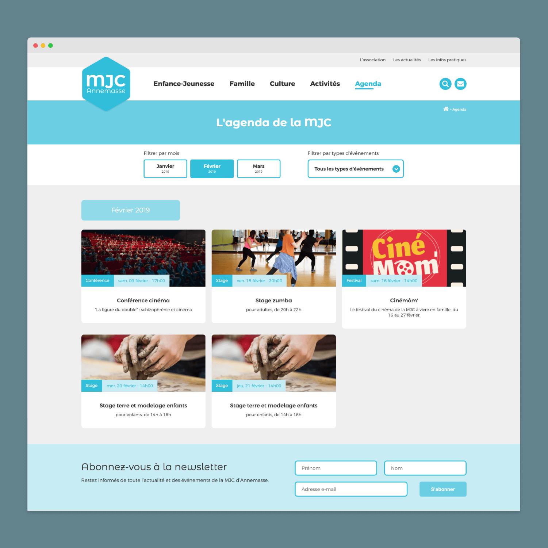 Site web - MJC Annemasse