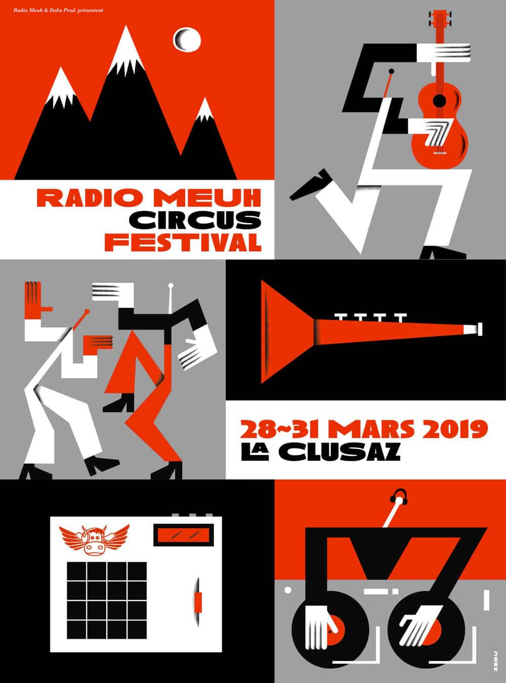 Affiche du festival Radio Meuh Circus