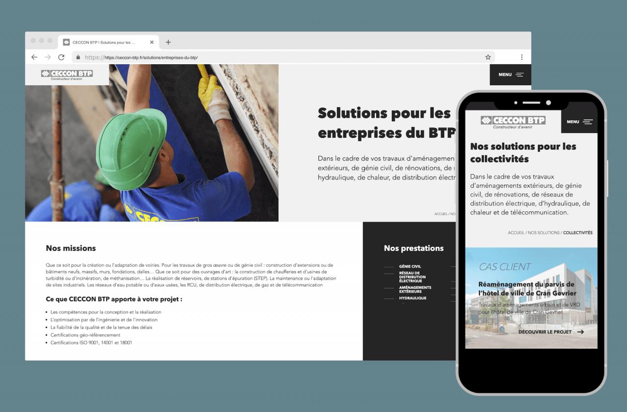 Développement d'un site sur mesure pour Ceccon BTP