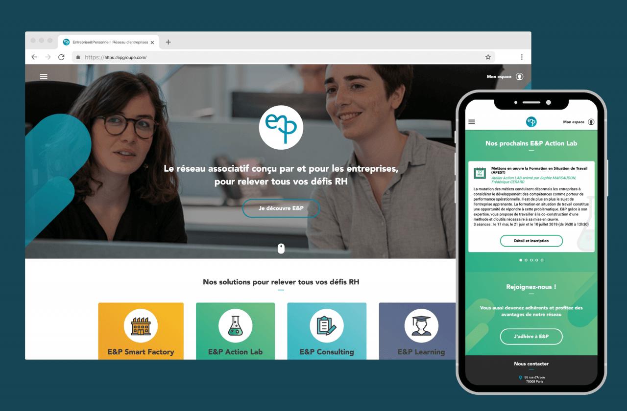 Création du site Entreprise et Personnel