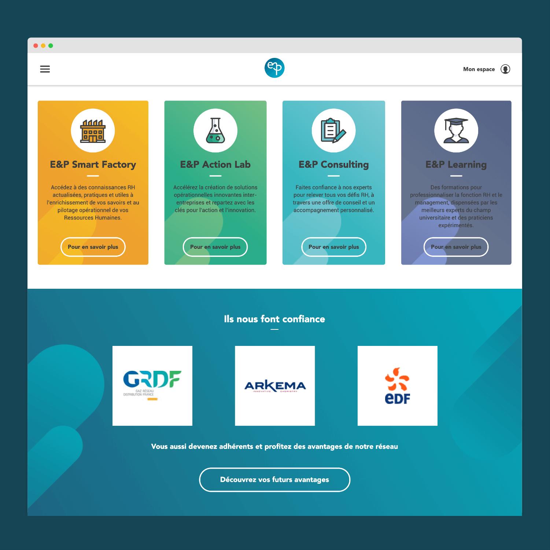 Refonte du site web Entreprise & Personnel