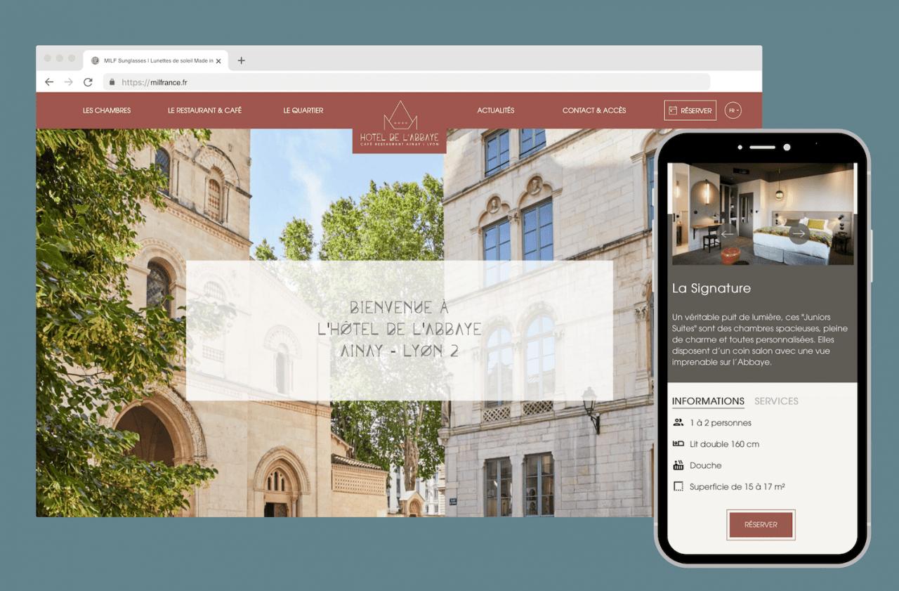 Création d'un site sur mesure pour un Hôtel