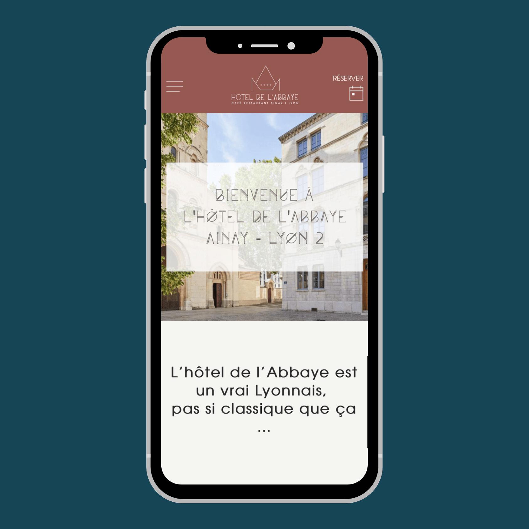 Site web mobile pour Hôtel