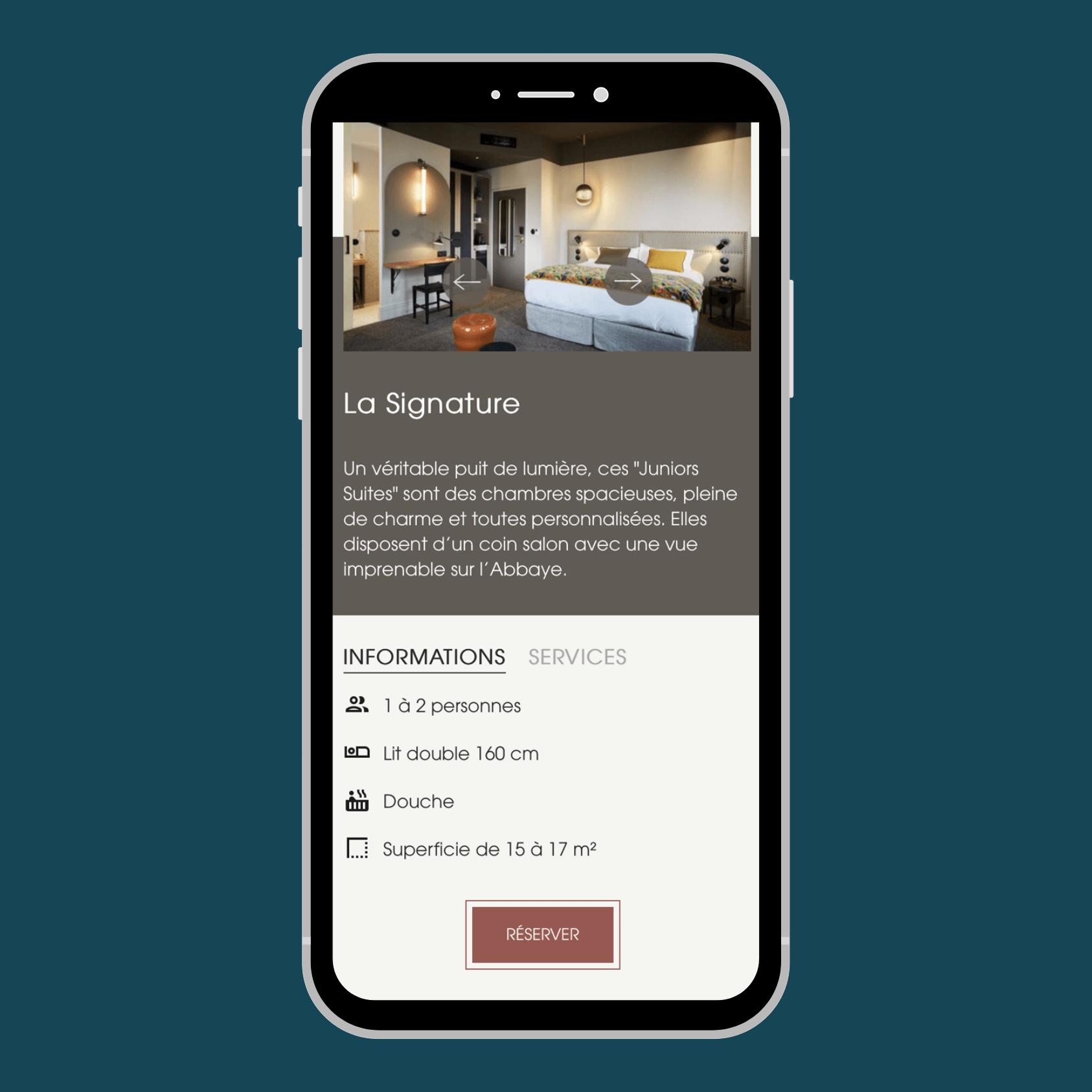 Site Internet Responsive Web Design mobile pour Hôtel