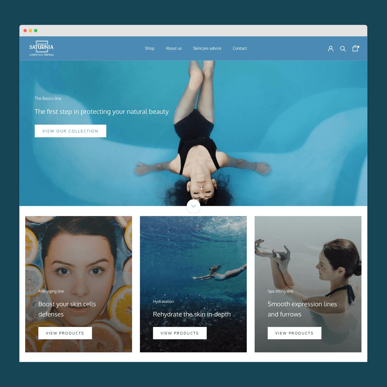 Boutique en ligne Shopify - Produits cosmétiques