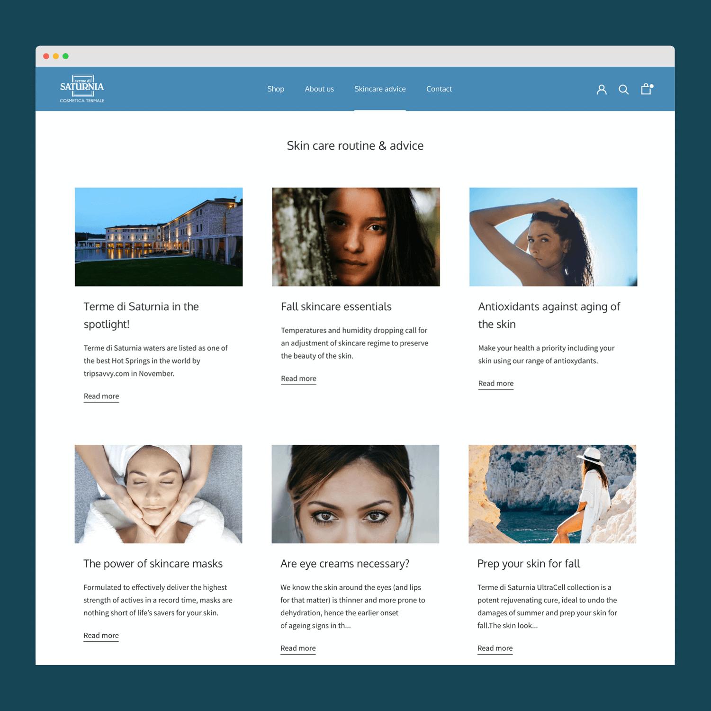 Nouvelle boutique Shopify - site e-commerce Cosmétiques