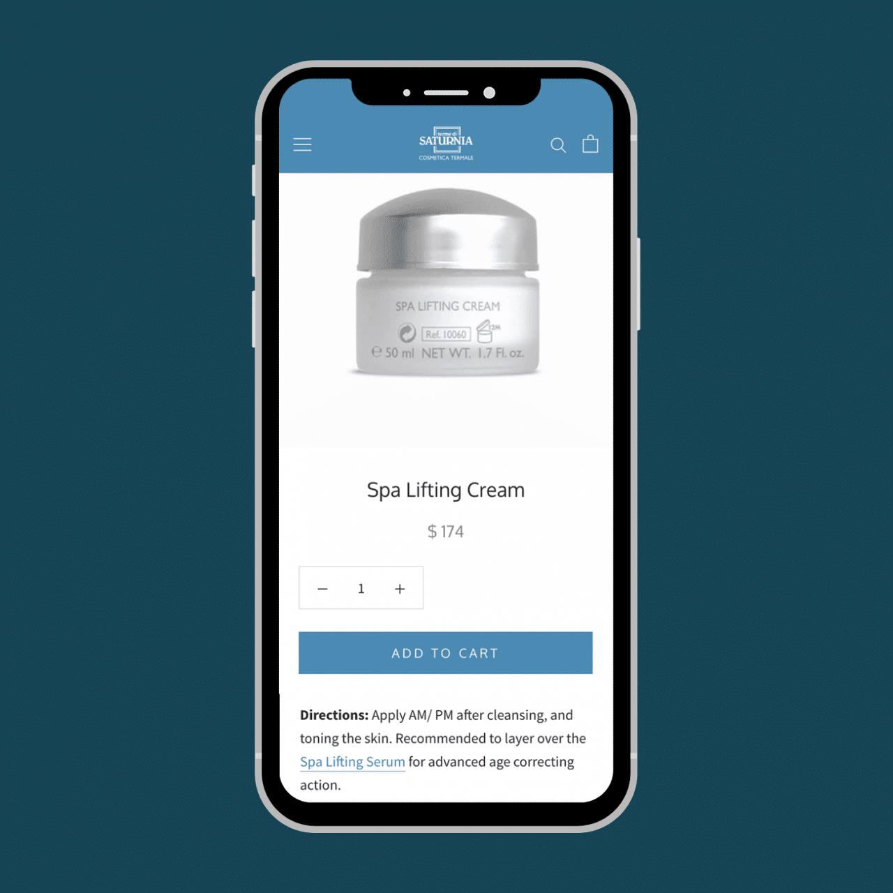 Boutique en ligne Shopify - site e-commerce Cosmétiques