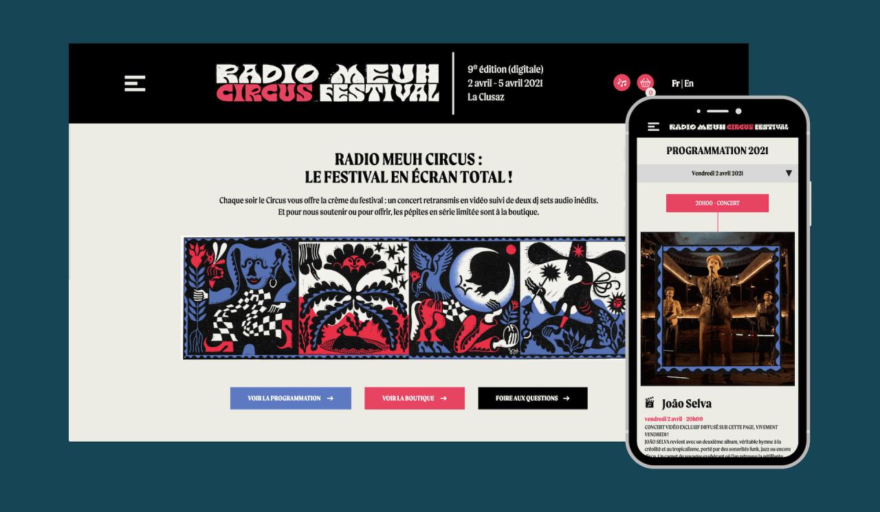 Site web du festival Radio Meuh Circus