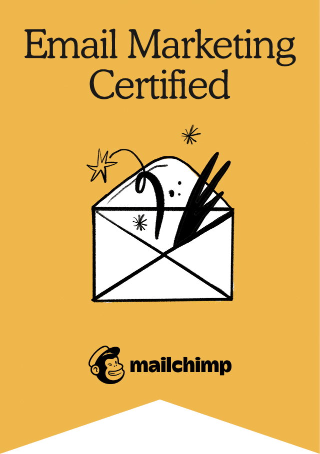 Certification Email marketing agence partenaire Mailchimp