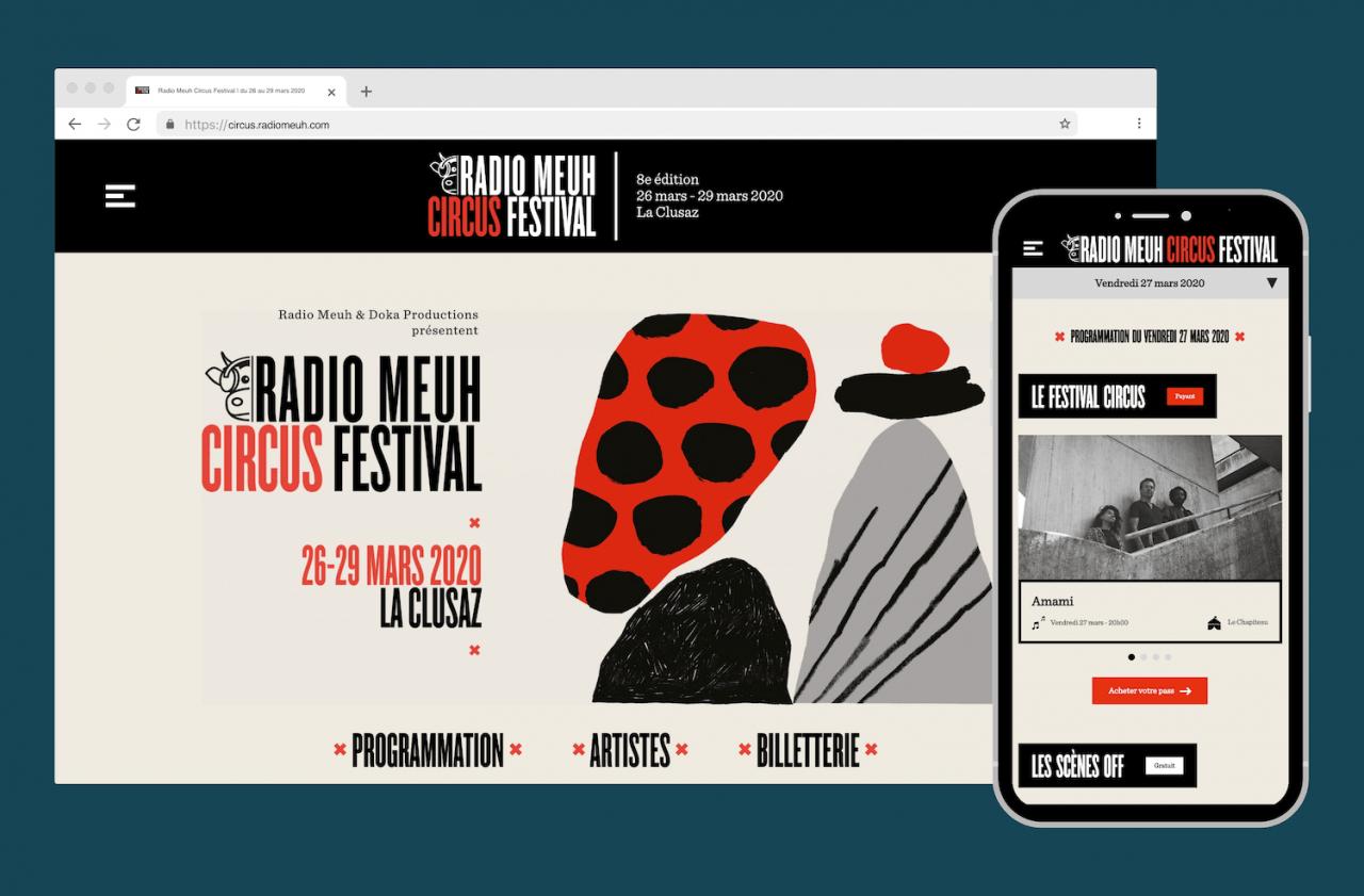 Site Web du Radio Meuh Circus 2020