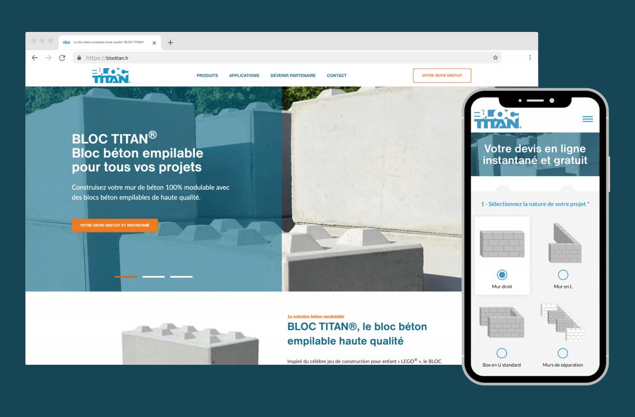 Site web avec module de devis en ligne