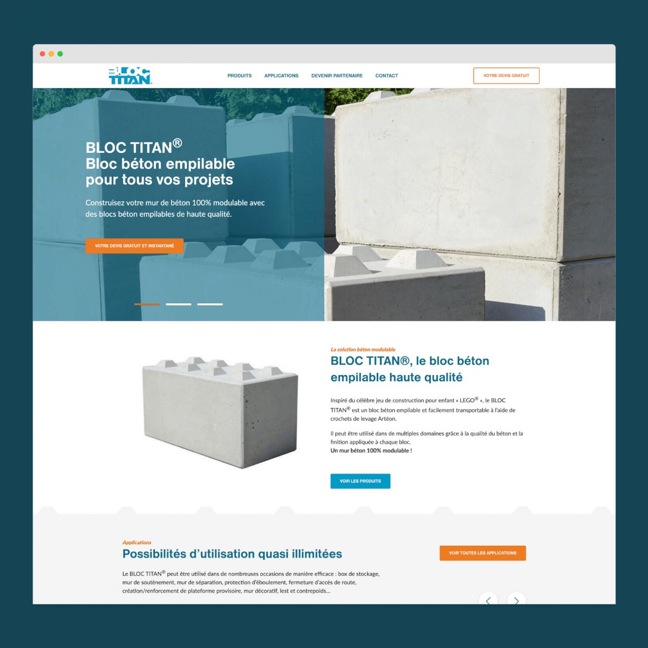 Site web avec générateur de devis en ligne