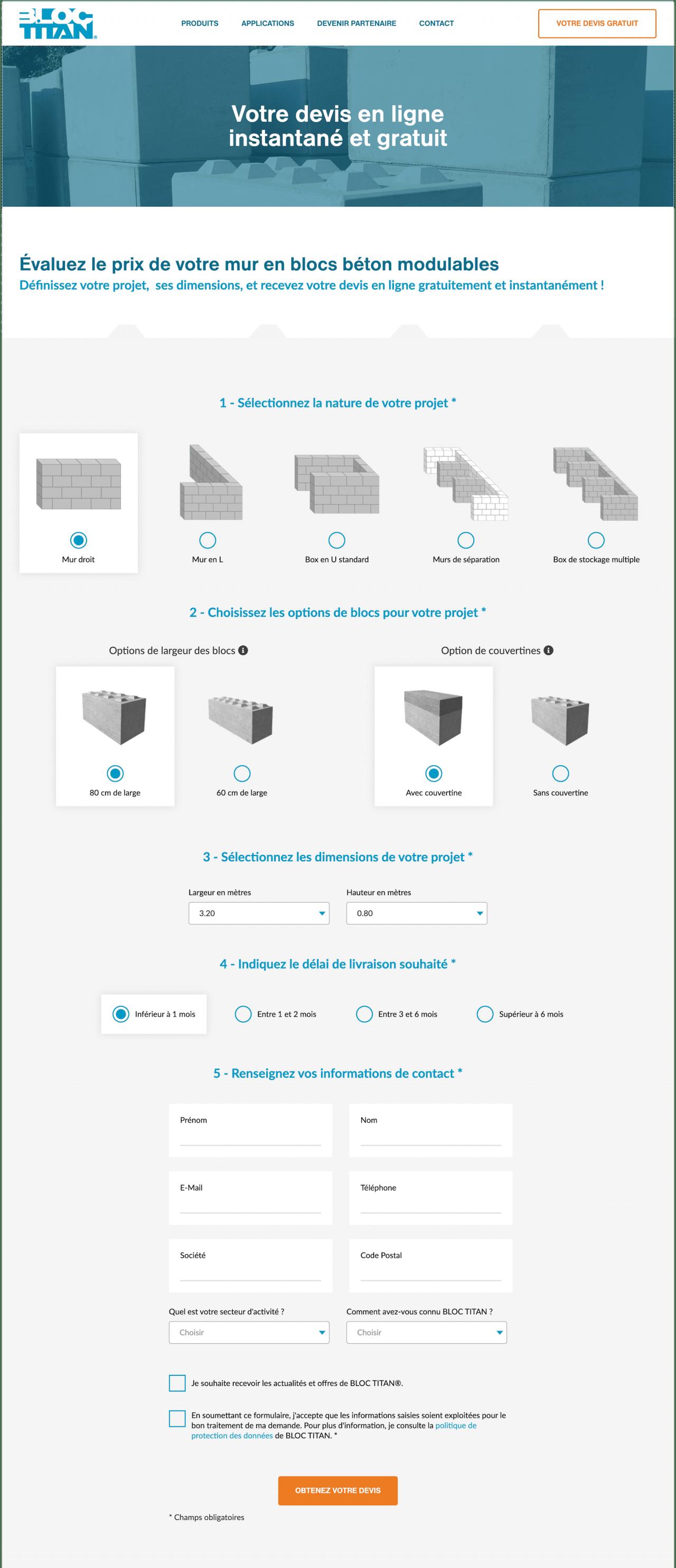 Générateur de devis en ligne instantané