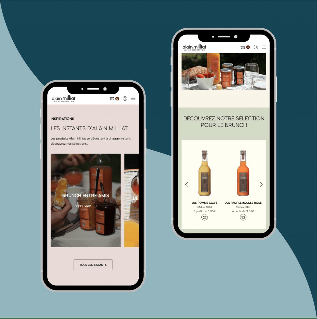 Expérience utilisateur mobile - e-commerce Shopify
