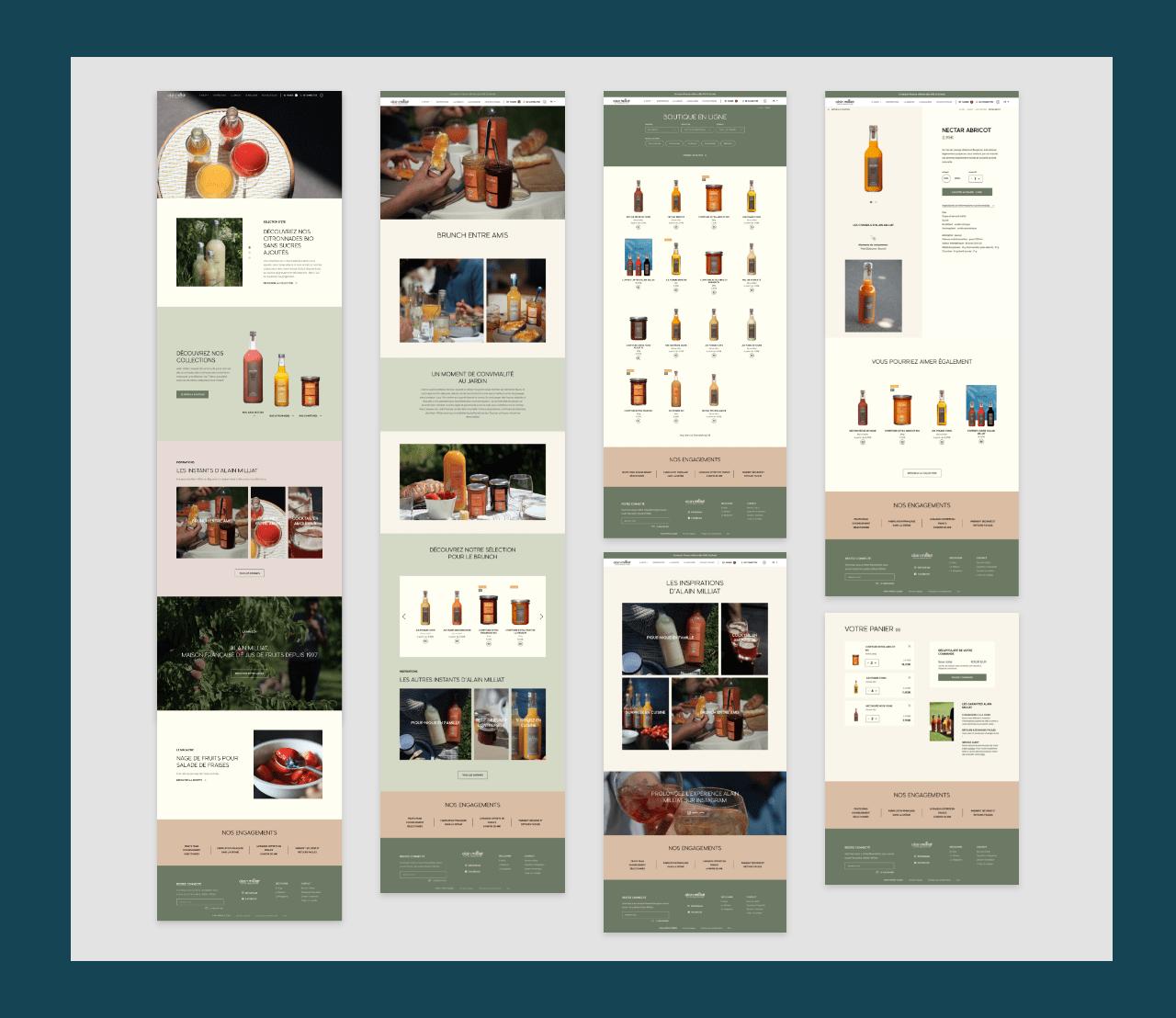 Webdesign - maquettes graphiques pour site e-commerce