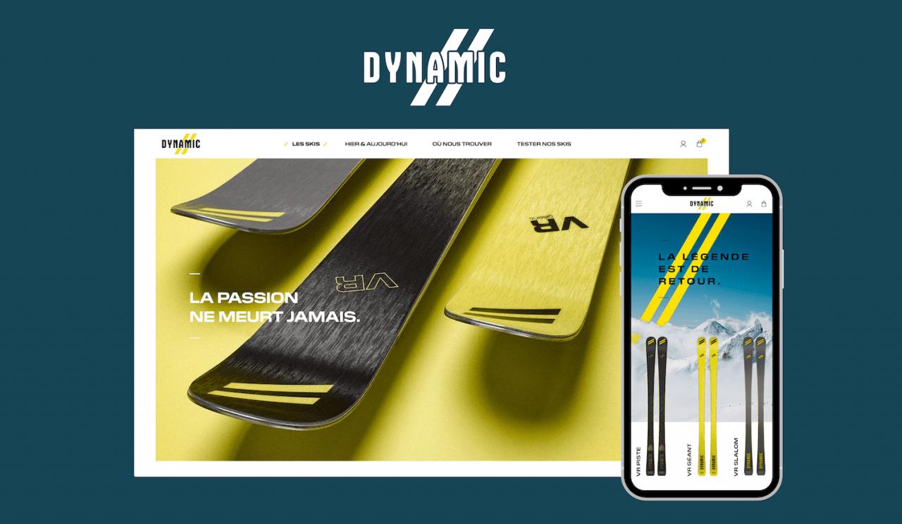 Conception de site e-commerce pour marque de skis DYNAMIC