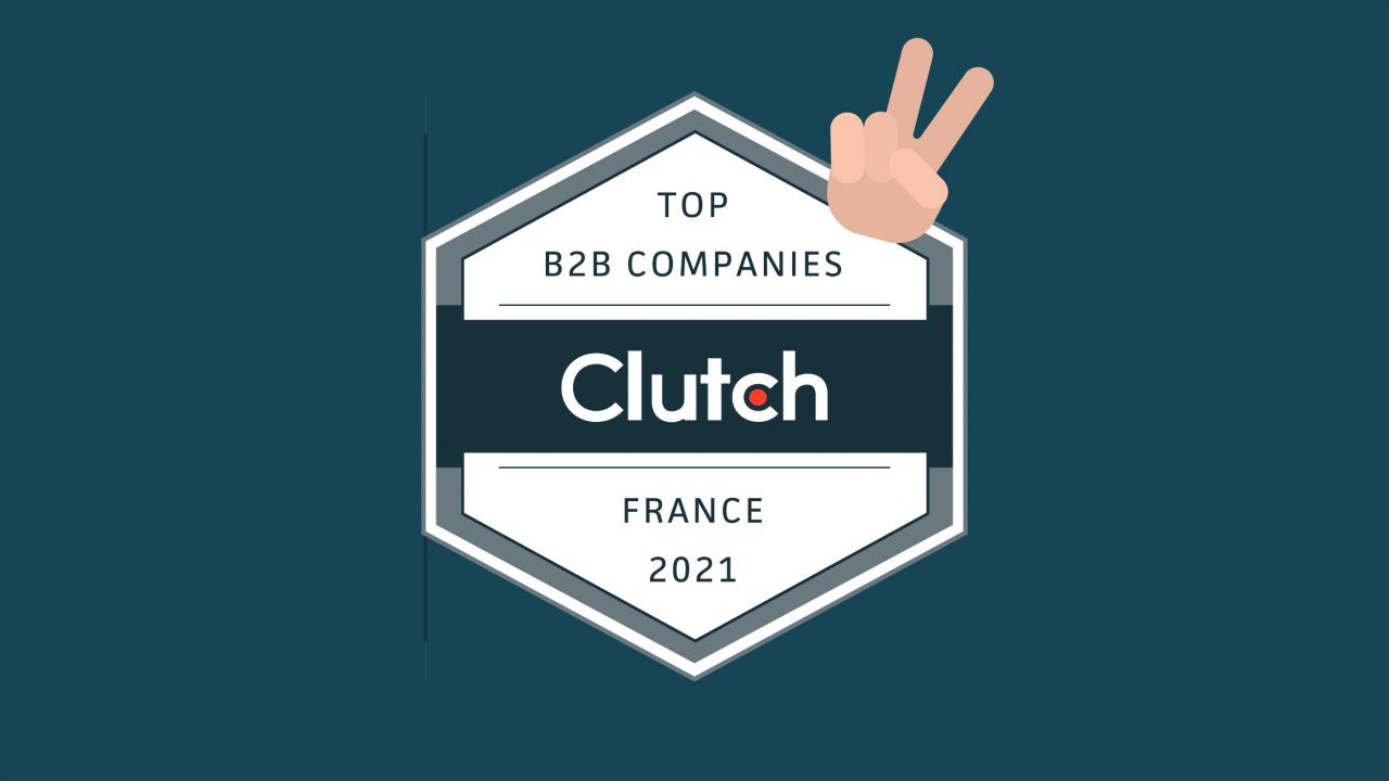Walt récompensé par Clutch - meilleure agence développement en France