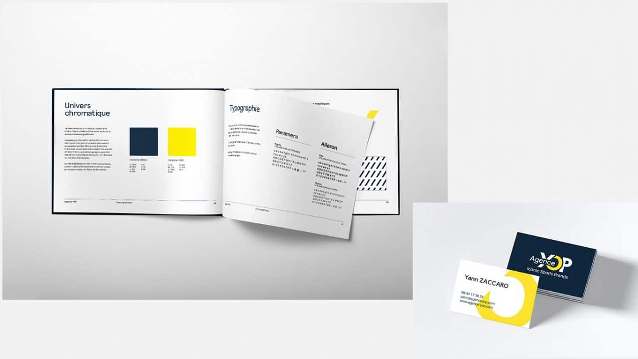 creation charte graphique et logo agence yop