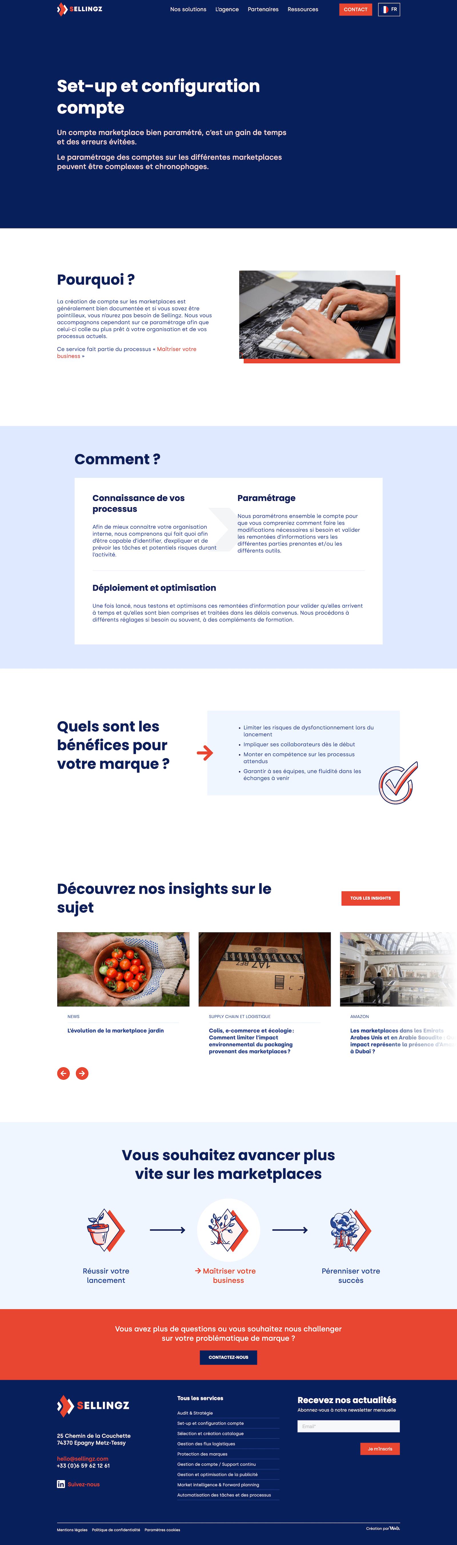 Webdesign - exemple de maquette - refonte de site web
