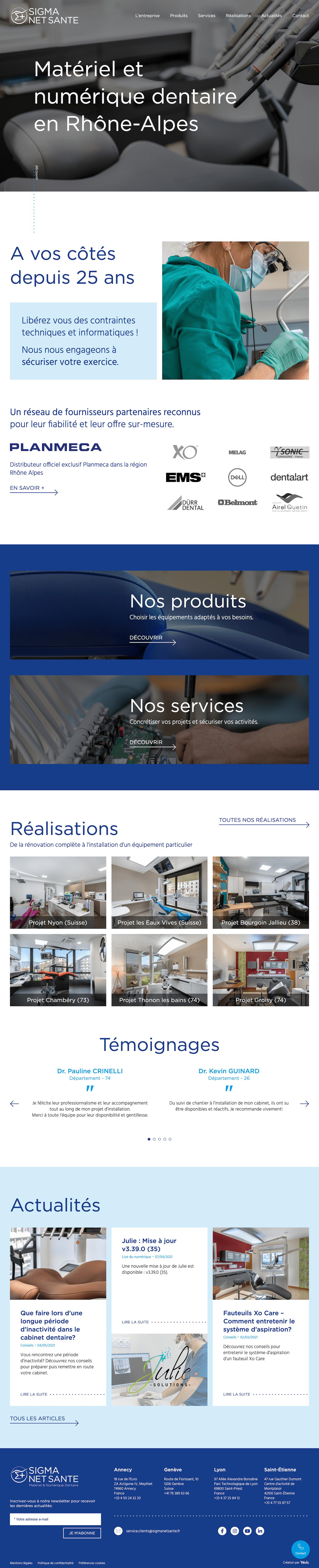 Webdesign page d'accueil site web Wordpress