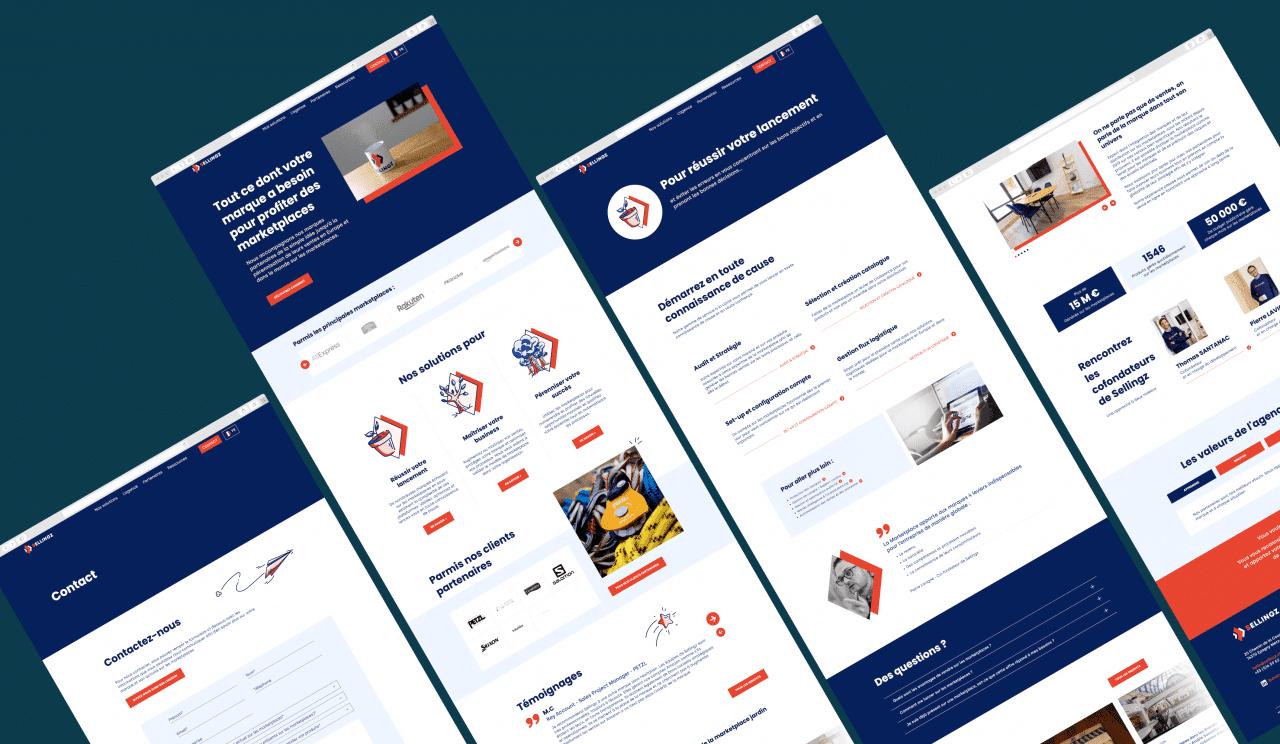 Webdesign - refonte de site web B2B