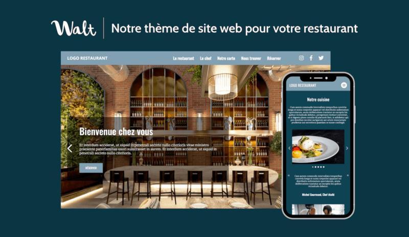 Thème de site internet pour restaurant